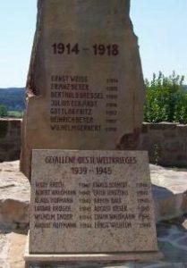 Gedenkstein auf dem Friedhof Sigritz
